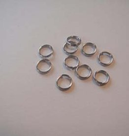 Hobby Crafting & Fun Double split ring, 6mm, Platinum, 10pcs/bag
