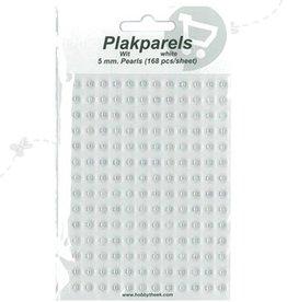 Hobbytheek Plak Parels Wit-White 5 mm