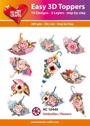 Hearty Crafts Easy 3D-Toppers Umbrellas/Flowers