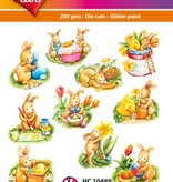Hearty Crafts Easy 3D-Toppers Easter Bunnies