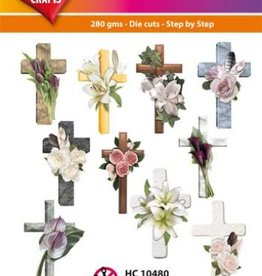 Hearty Crafts Easy 3D-Toppers - Condolence Crosses