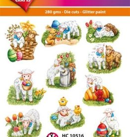 Hearty Crafts Easy 3D-Toppers Easter Lambs