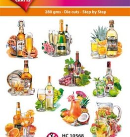 Hearty Crafts Easy 3D-Toppers Drinks & Cocktail