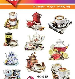 Hearty Crafts Easy 3D-Toppers Coffee and Tea