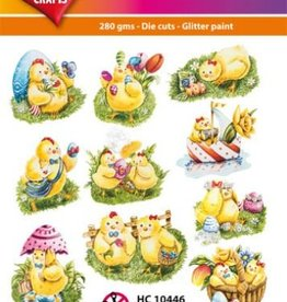 Hearty Crafts Easy 3D-Toppers Easter Chickens