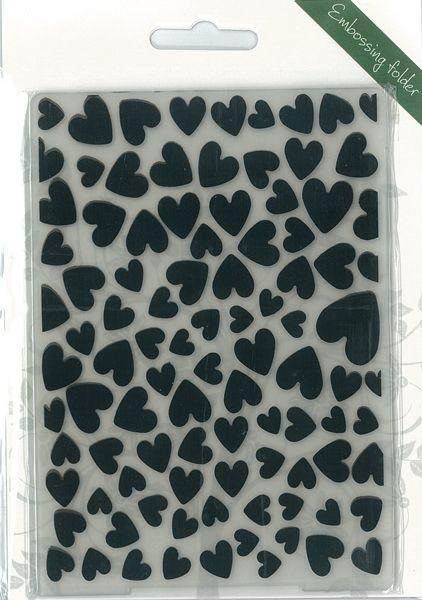 Romak Embossing folder Hearts