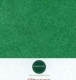 Central Craft Collection Glitterpapier grün A4