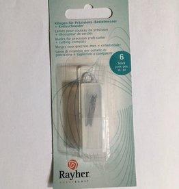 Rayher Lames Rayher pour couteau de précision + coupe-cercle