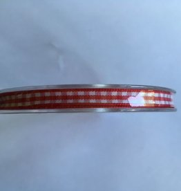 Ribbon Checkered Red