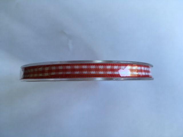Ribbon Checkered Red