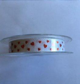 Herz-Band-Weiß-Rot