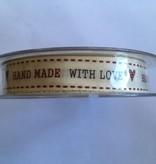 Ribbon håndlavet med kærlighed elfenben