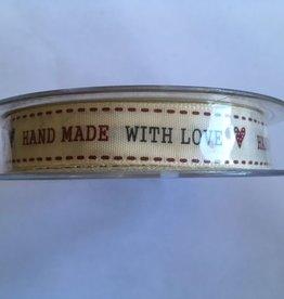 Band Hand gemacht mit Liebe Elfenbein