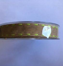 Stitch Ribbon Brown Light Green