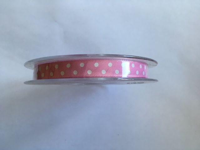Dotjes Ribbon Pink White
