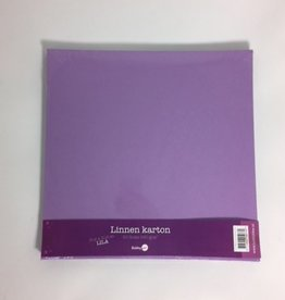 Hobby Idee Linen cardboard Scrap Lilac