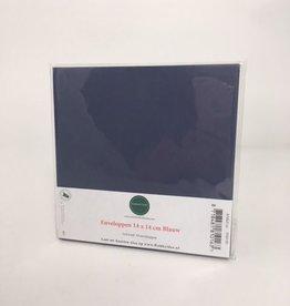 Enveloppe vierkant blauw 14*14 cm 10 stuks
