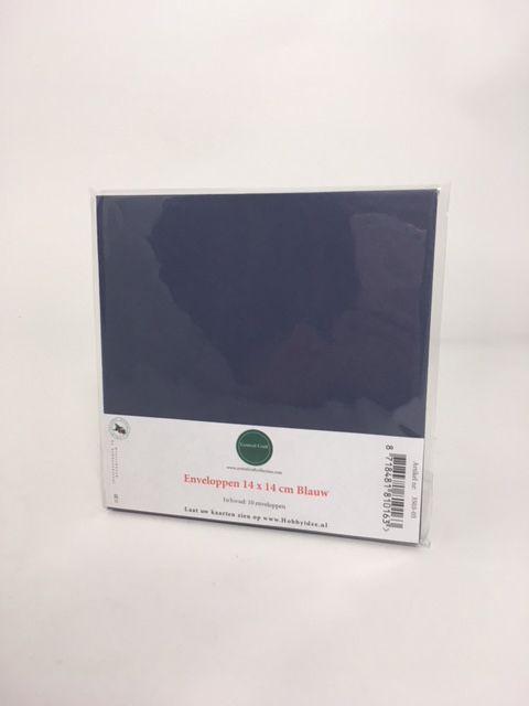 Enveloppe kvadratblå 14 * 14 cm