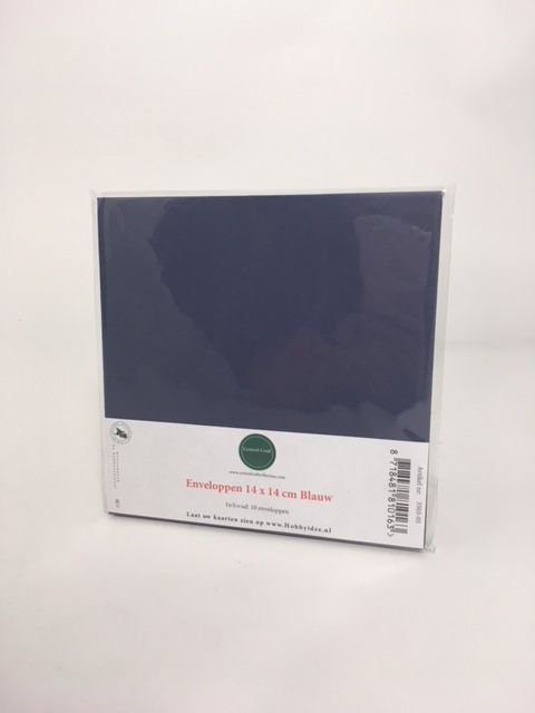 Enveloppe vierkant blauw 14*14 cm