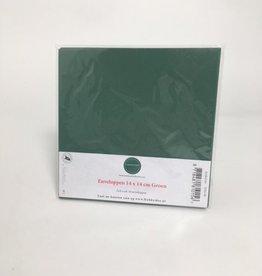Enveloppe carrée verte 14 * 14 cm 10 pièces