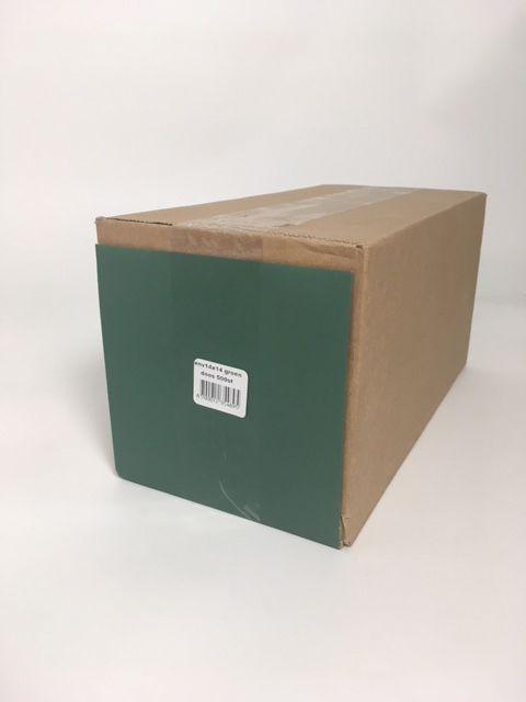 Konvolutt kvadratisk grøn 14 * 14 cm