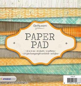 Studiolight Paper Pad 15 x 15 cm, 36 sheets, 12 patterns nr.79