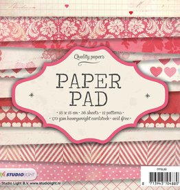 Studiolight Paper Pad 15 x 15 cm, 36 sheets, 12 patterns nr.80
