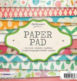 Studiolight Paper Pad 15 x 15 cm, 36 vel, 12 patronen nr.81