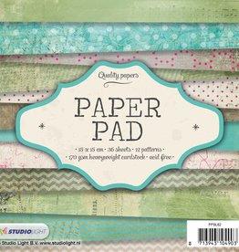 Studiolight Paper Pad 15 x 15 cm, 36 sheets, 12 patterns nr.82