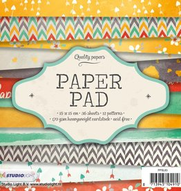 Studiolight Paper Pad 15 x 15 cm, 36 sheets, 12 patterns nr.83
