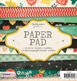 Studiolight Paper Pad 15 x 15 cm, 36 sheets, 12 patterns nr.84
