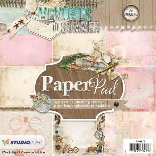 Studiolight Studio Light paper pad Memories of Summer PPMS77