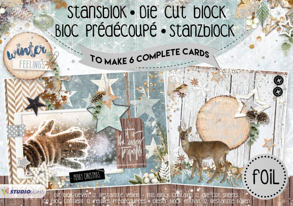 Studiolight Stansblok A5 Die Cut Folie, Winter Feelings nr.17