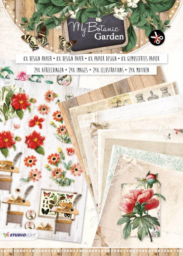 Studiolight Paperblock A4, content 16 sheets die cut, My Botanic Garden nr.02