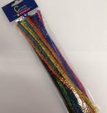 Hobby Crafting & Fun Glitter Chenille set, Mix Color, 8mm x 30cm x 24 pcs/header bag