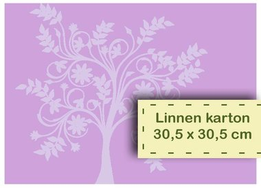 Linen cardboard 30.5 x 30.5 cm