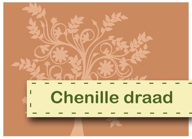 Chenille thread and pompoms