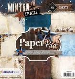 Studiolight Paper Pad 15 x 15 cm Winter Trails, nr.97