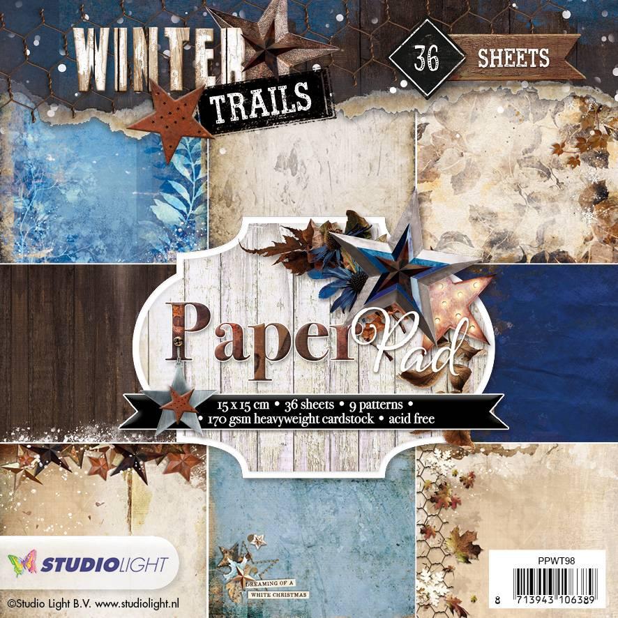 Studiolight Paper Pad 15 x 15 cm Winter Trails, nr.98