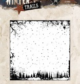 Studiolight Stamp (1) 14x14 Background Winter Trails, nr. 304