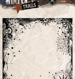 Studiolight Stamp (1) 14x14 Background Winter Trails, nr. 305