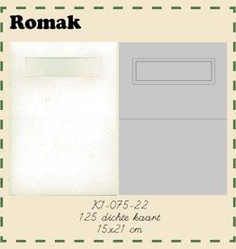 Romak Romak Kaart Ivoor 125 stuks