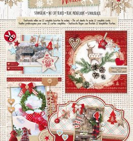 Studiolight Stansblok A4, content 12 sheets die cut, Scandinavian Winter nr.70