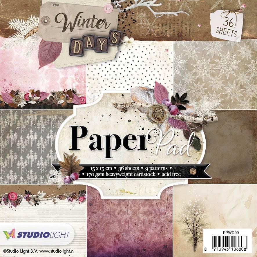 Studiolight Paper Pad 15 x 15 cm Winter Days, nr.99