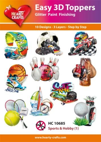 Hearty Crafts Easy 3D-Toppers Sports & Hobby (1)