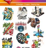 Hearty Crafts Easy 3D-Toppers Sports & Hobby (2)