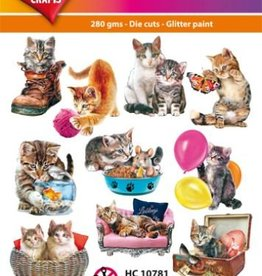 Hearty Crafts Easy 3D-Toppers Cute Cats