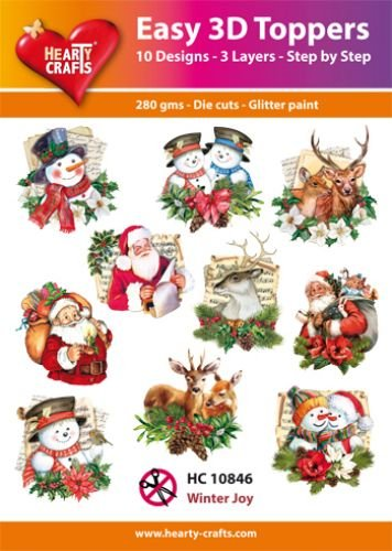 Hearty Crafts Easy 3D-Toppers Winter Joy