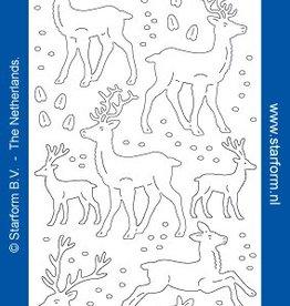 Starform Deer Glitter Aufkleber