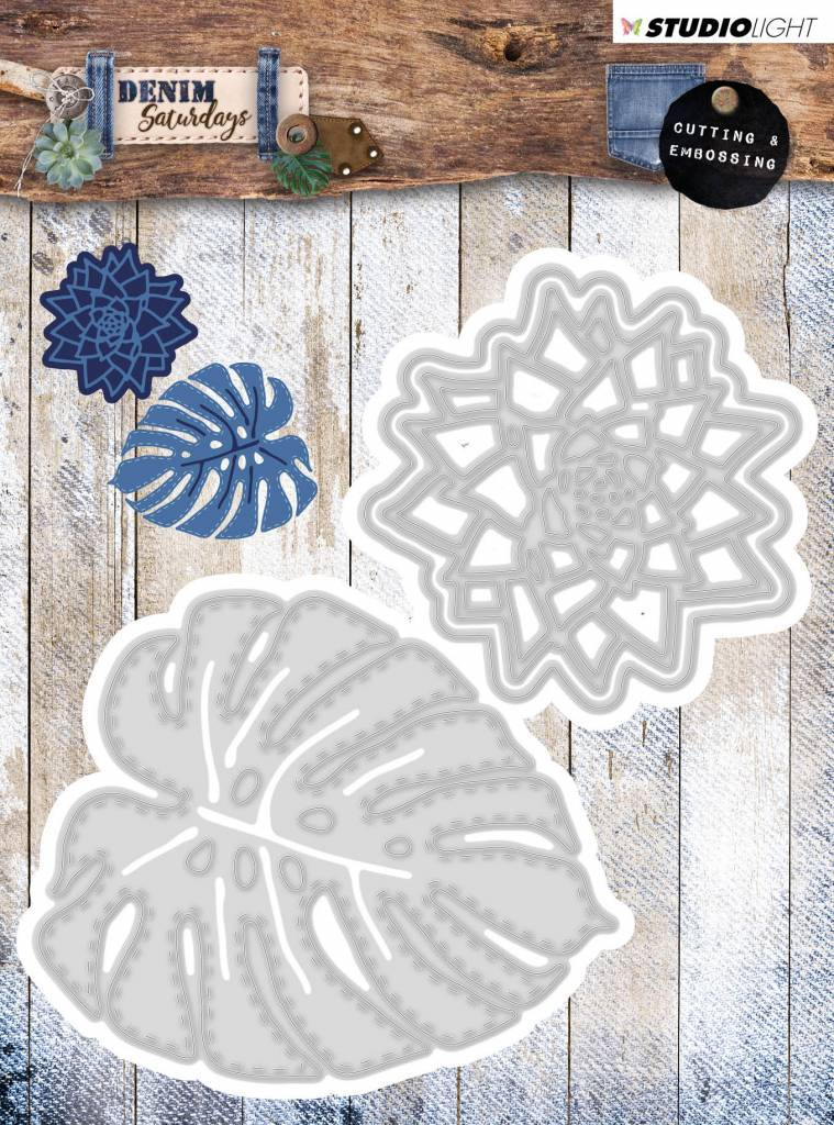 Studiolight Embossing Die 106 x 113 mm, Denim Saturdays nr.134